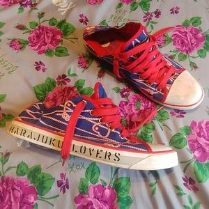Harajuku Lovers Roped Canvas Sneakers